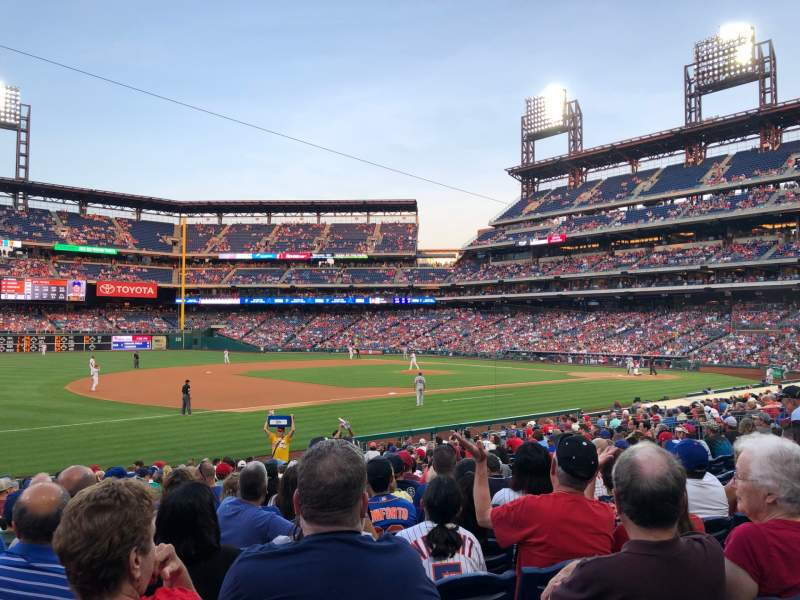 Seating view for Citizens Bank Park Section 134 Row 21 Seat 10