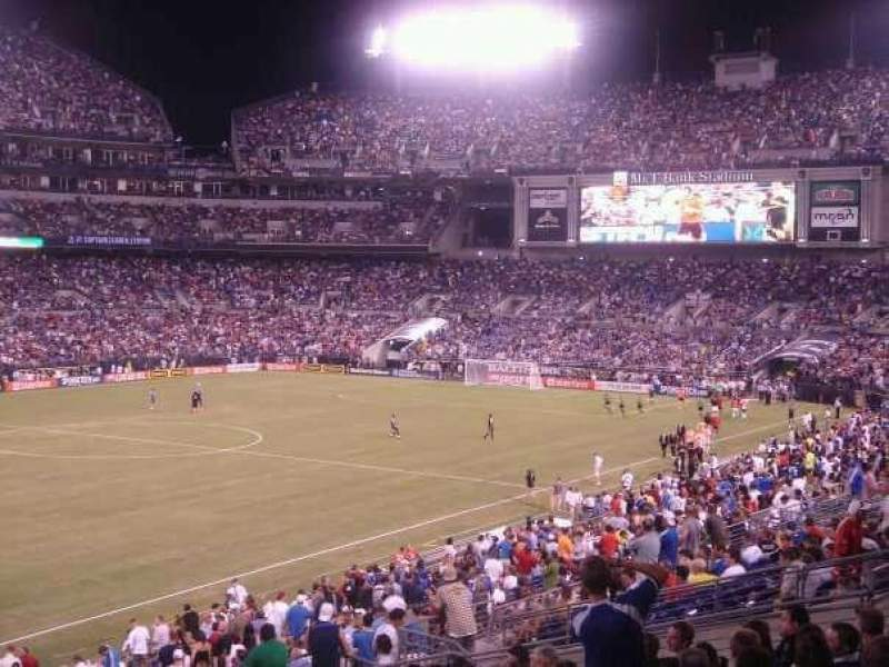 Seating view for M&T Bank Stadium