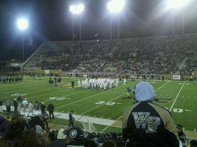 Seating view for BB&T Field Section 8 Row P Seat 19