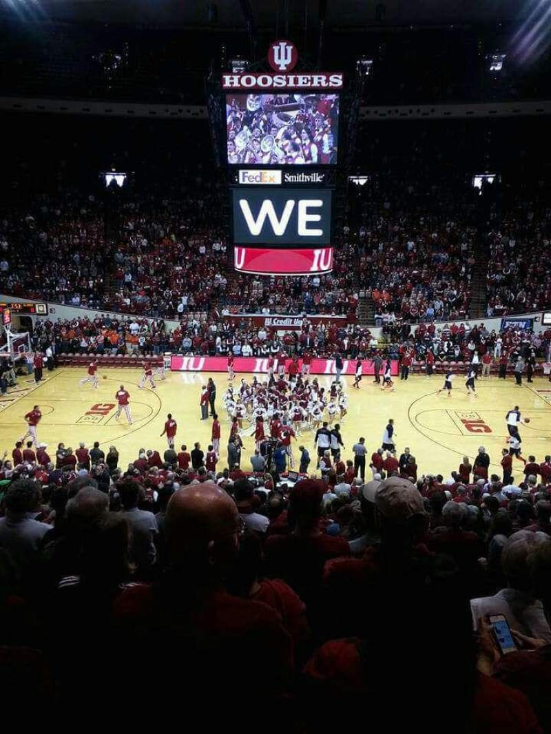 Seating view for Assembly Hall (Bloomington) Section J Row 19 Seat 10