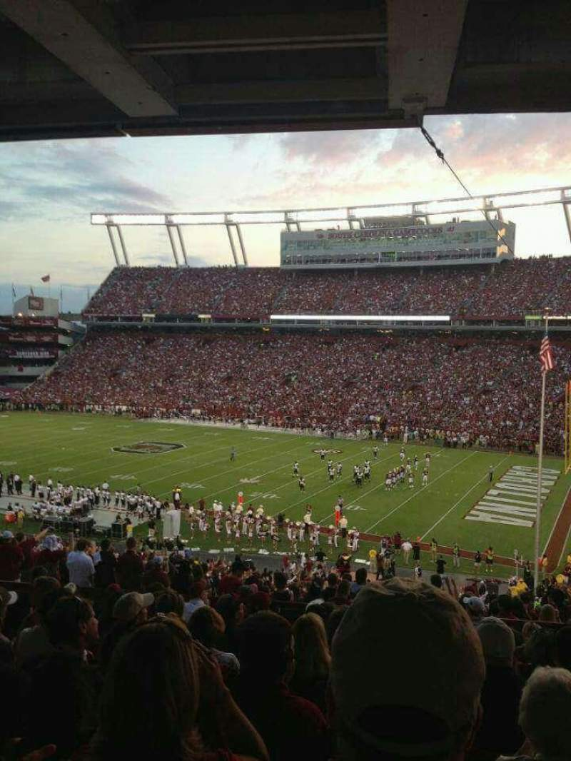 Seating view for Williams-Brice Stadium Section 417 Row 10 Seat 6