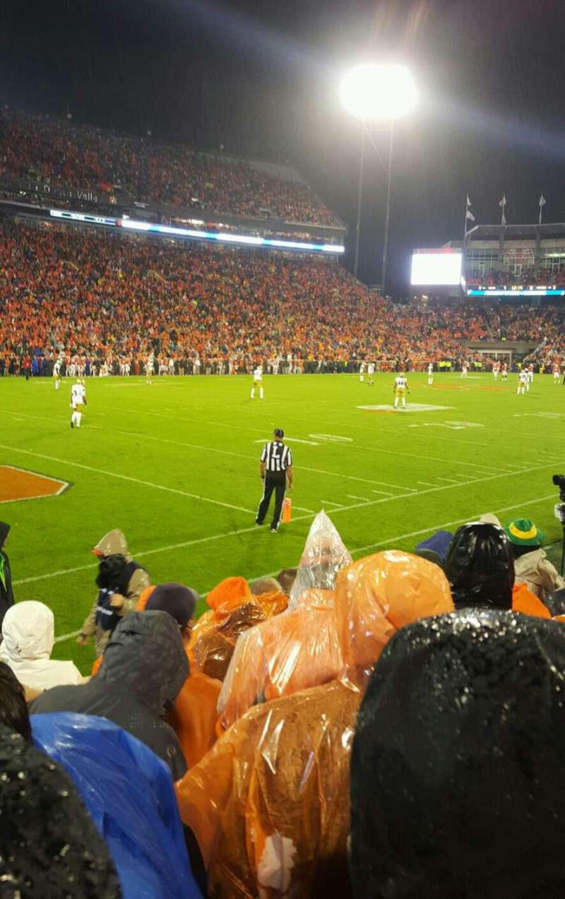 Seating view for Memorial Stadium, Clemson Section k Row f Seat 11