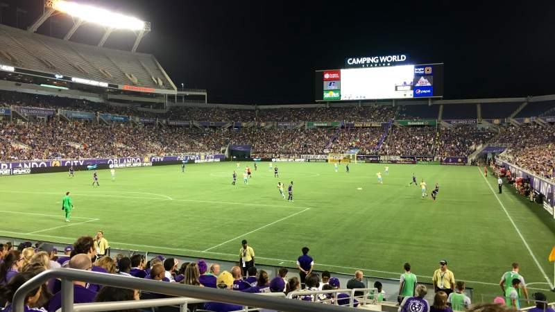 Seating view for Camping World Stadium Section 145 Row CC Seat 9
