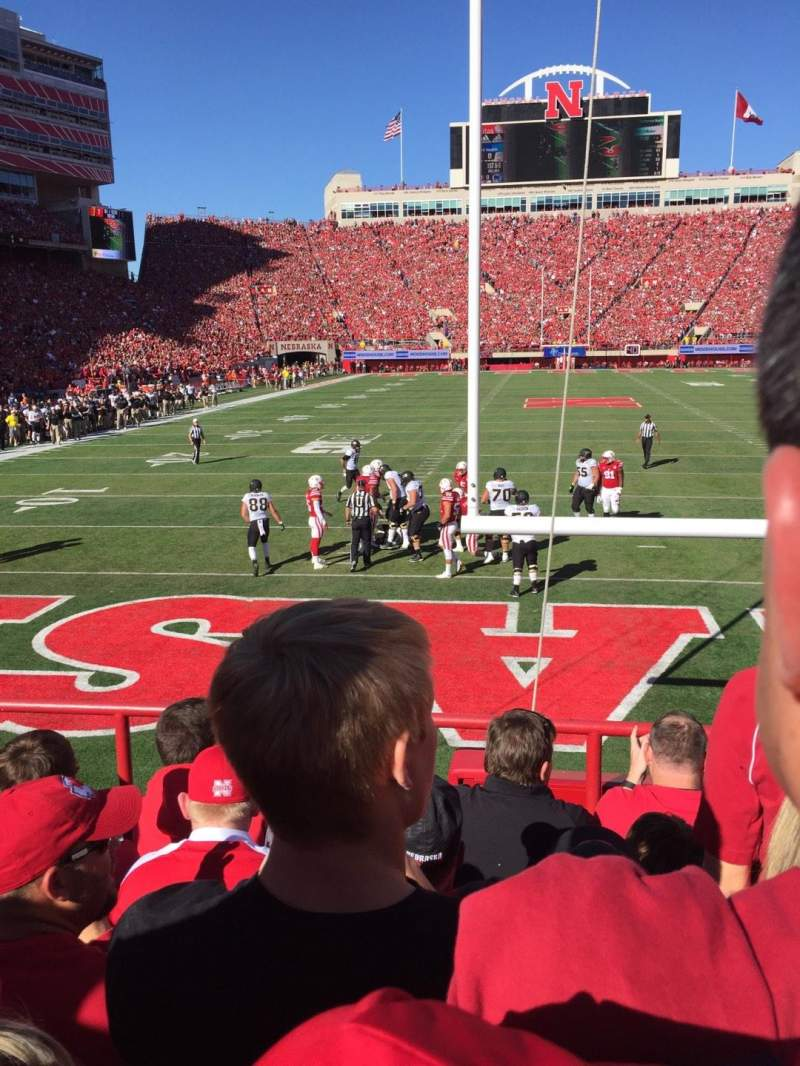 Seating view for Memorial Stadium Section 16 Row 6 Seat 15