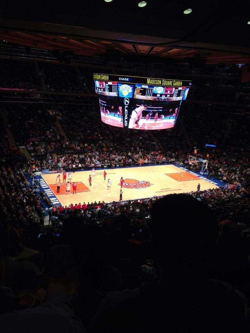 Seating view for Madison Square Garden Section 209 Row 12 Seat 7