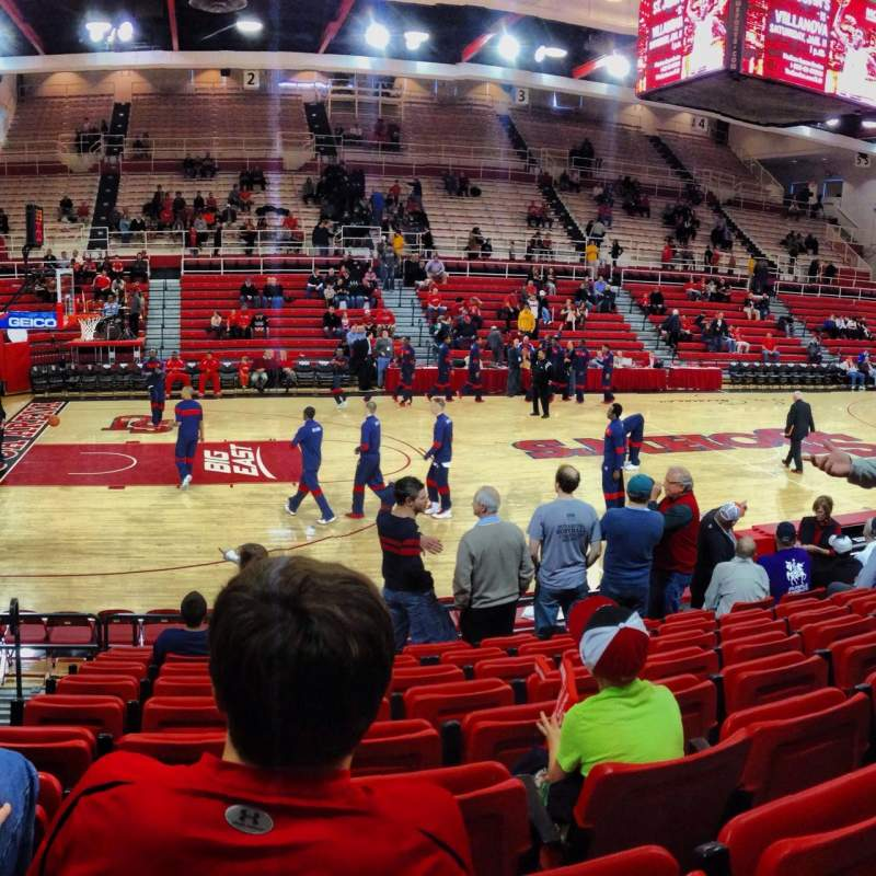 Seating view for Carnesecca Arena Section 10 Row KK Seat 10