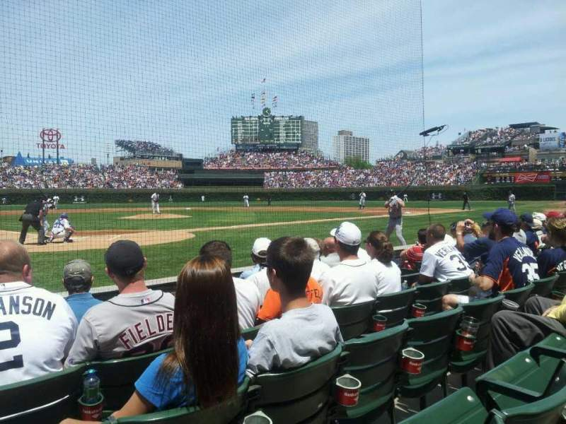 Seating view for Wrigley Field Section 24 Row 3 Seat 1