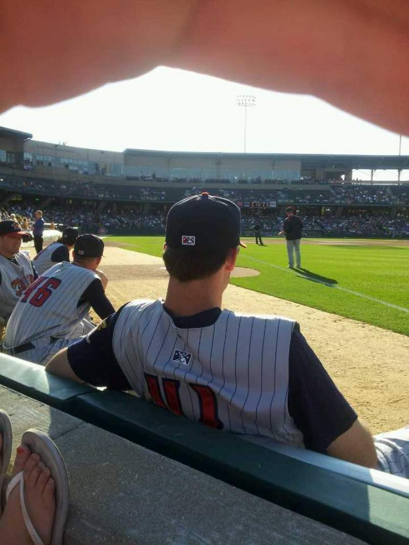Seating view for Victory Field Section 121 Row A Seat 7