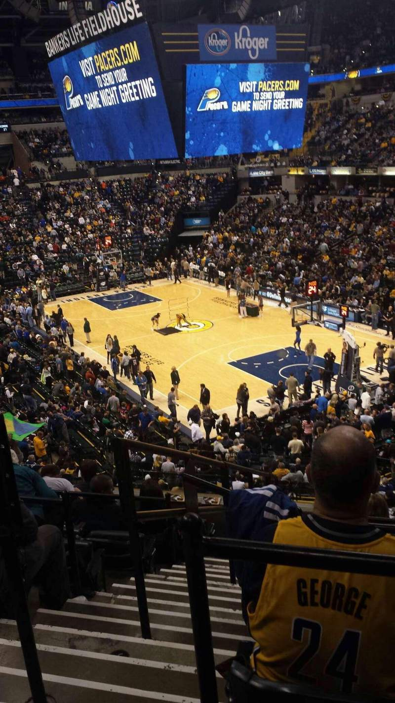 Seating view for Bankers Life Fieldhouse