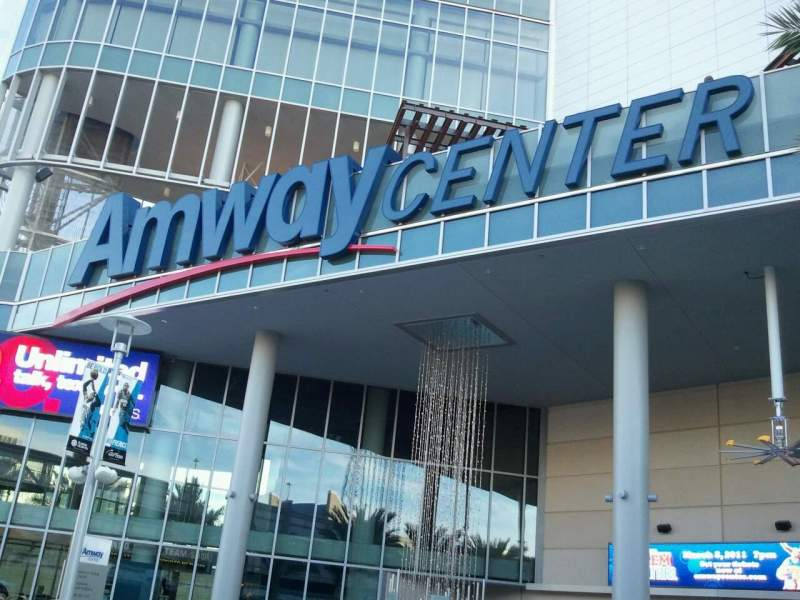 Seating view for Amway Center Section Main Entrance