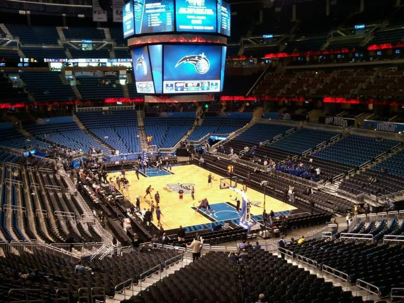 Seating view for Amway Center Section 203