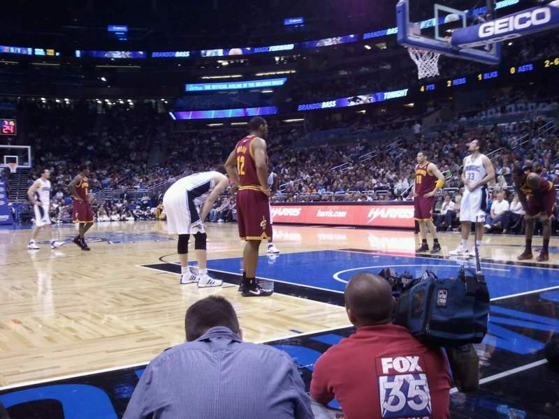 Seating view for Amway Center Section Floor S Row 1 Seat 28