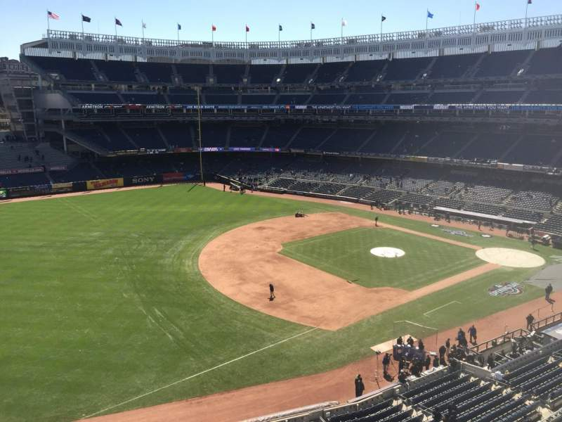 Seating view for Yankee Stadium Section 328 Row 1 Seat 19