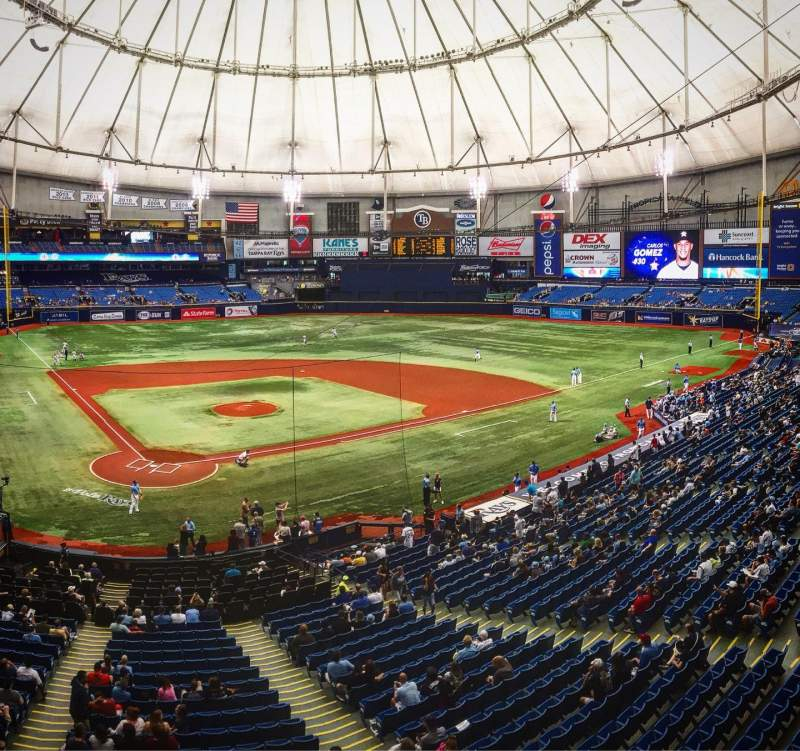 Seating view for Tropicana Field Section 204 Row A Seat 4