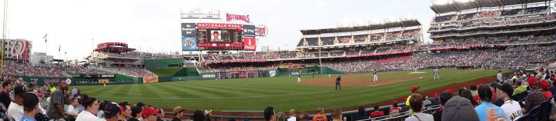 Seating view for Nationals Park Section 113 Row J Seat 15