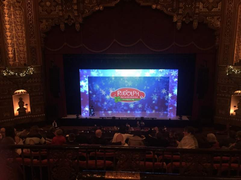 Seating view for The Fabulous Fox Theatre (St. Louis) Section Lower Balcony 4 Row A Seat 102