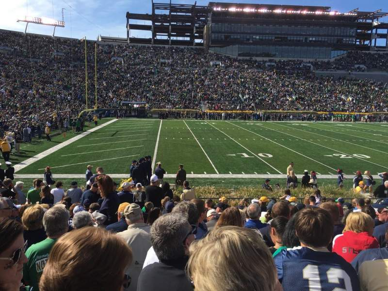 Seating view for Notre Dame Stadium Section 13 Row 20 Seat 3