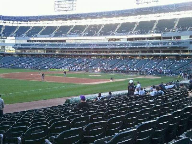 Seating view for Guaranteed Rate Field Section 148 Row 14 Seat 1