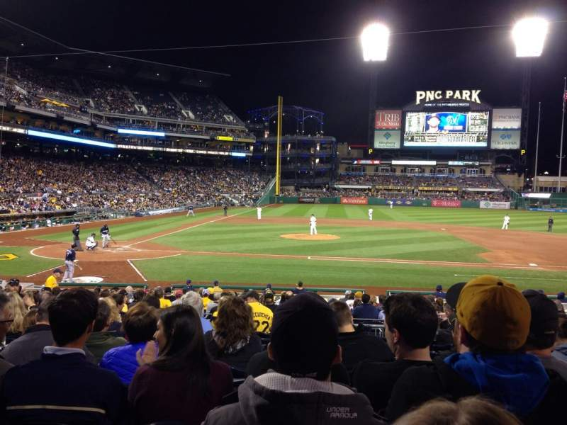 Seating view for PNC Park Section 112 Row K Seat 7