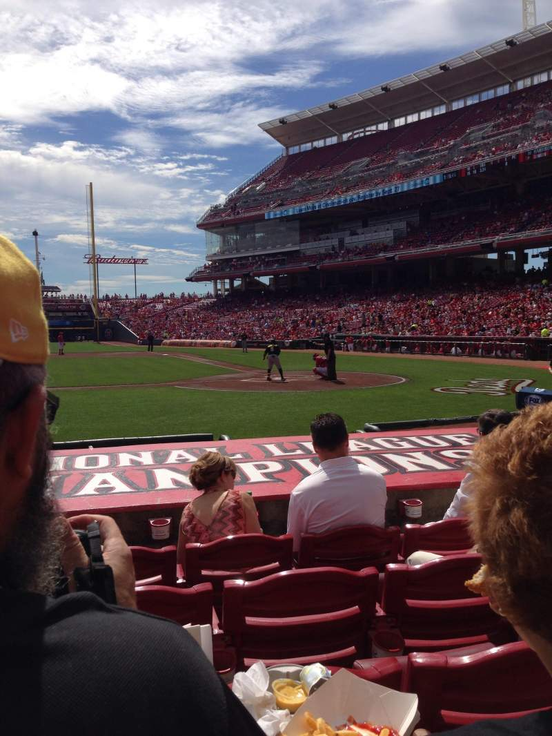 Seating view for Great American Ball Park  Section 118 Row J Seat 6