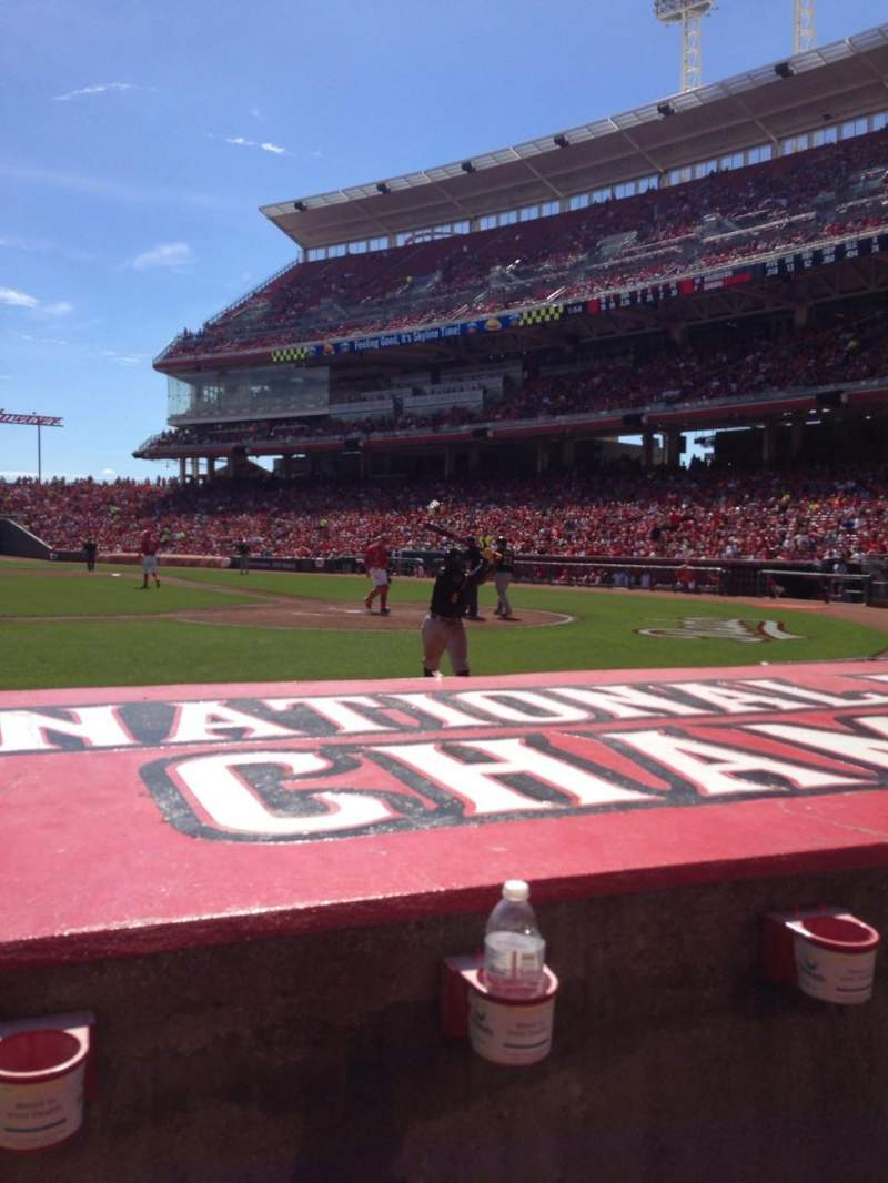 Seating view for Great American Ball Park Section 118 Row G Seat 8