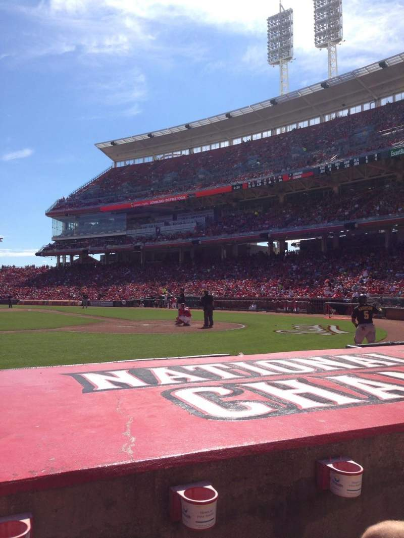 Seating view for Great American Ball Park Section 118 Row F Seat 8