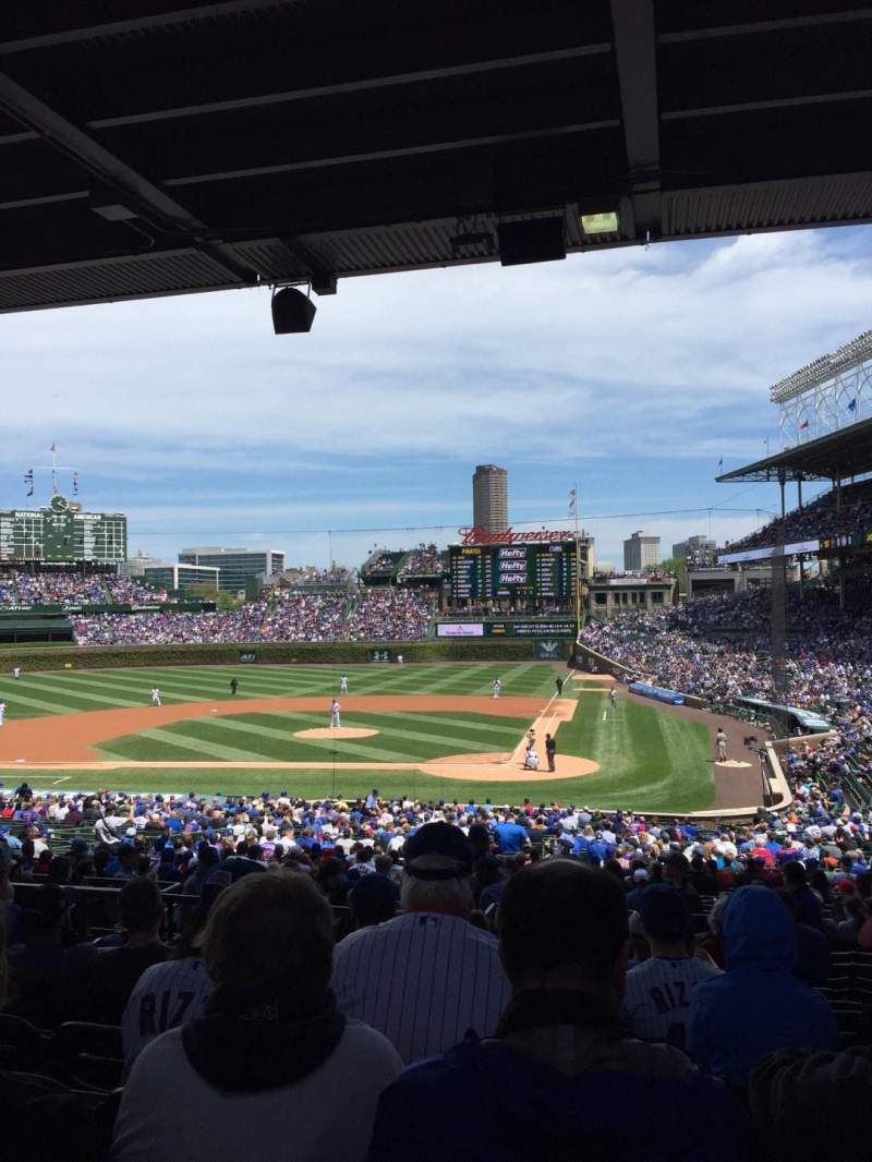 Seating view for Wrigley Field Section 218 Row 10 Seat 106