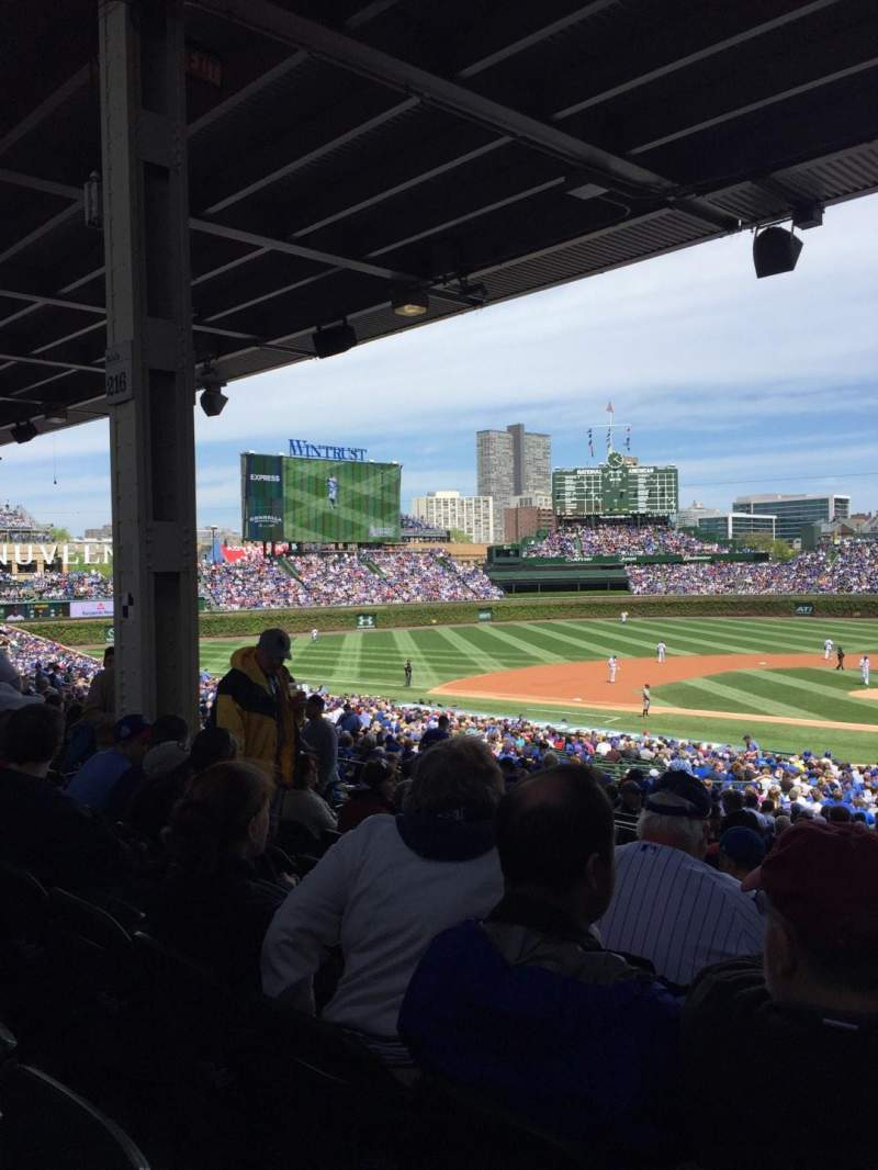 Seating view for Wrigley Field Section 218 Row 10 Seat 104