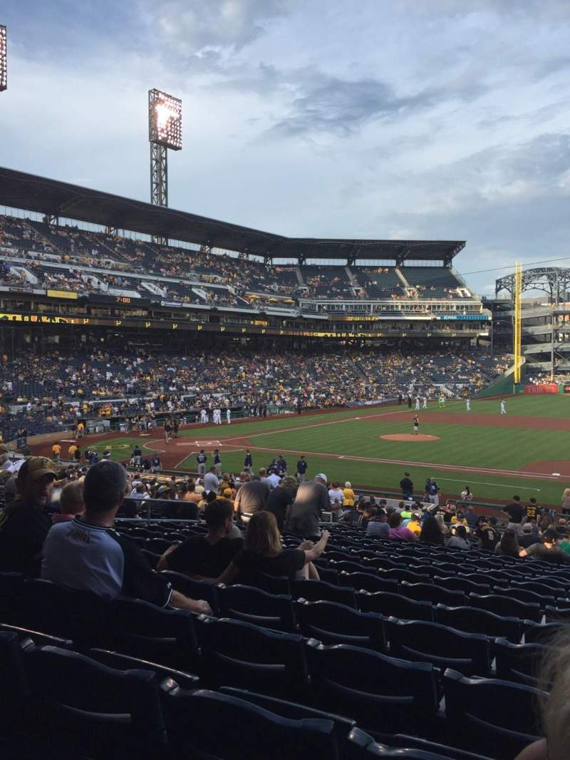 Seating view for PNC Park Section 109 Row W Seat 4