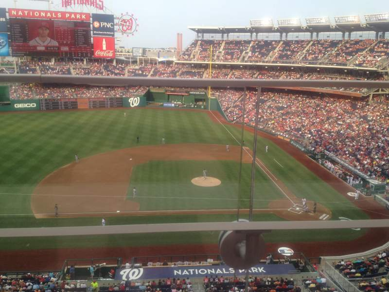 Seating view for Nationals Park Section 308 Row A Seat 3
