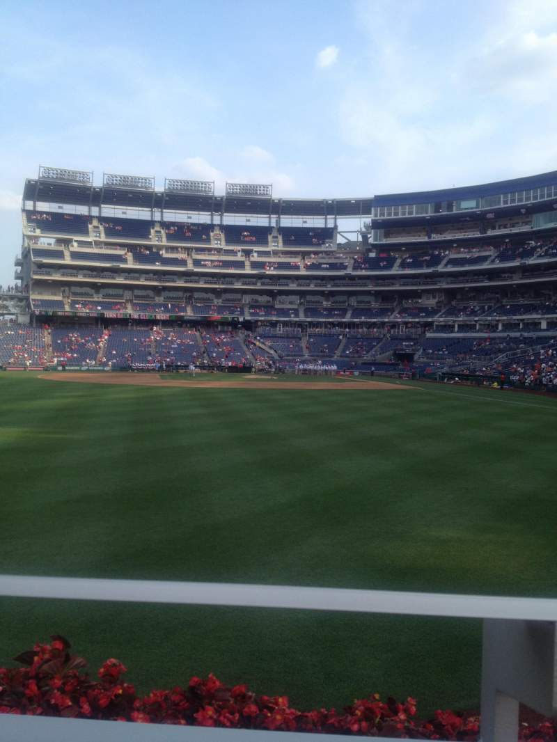 Seating view for Nationals Park Section 103 Row A