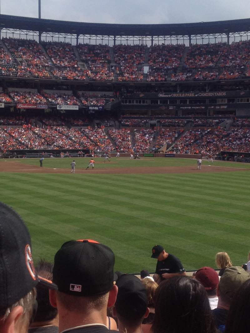 Seating view for Oriole Park at Camden Yards Section 86 Row 17 Seat 9
