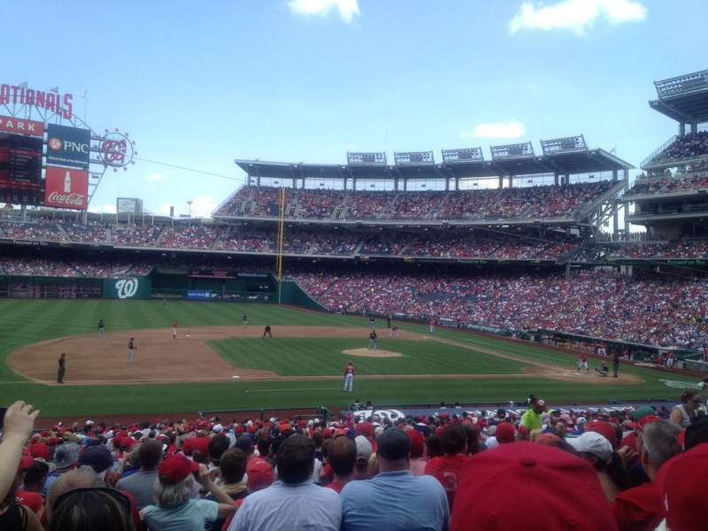 Seating view for Nationals Park Section 115 Row LL Seat 15