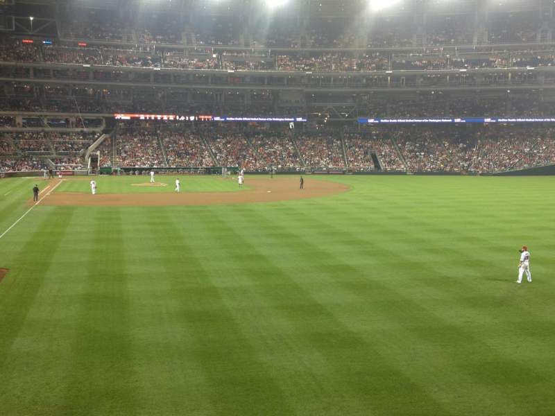 Seating view for Nationals Park Section 138 Row S Seat 14