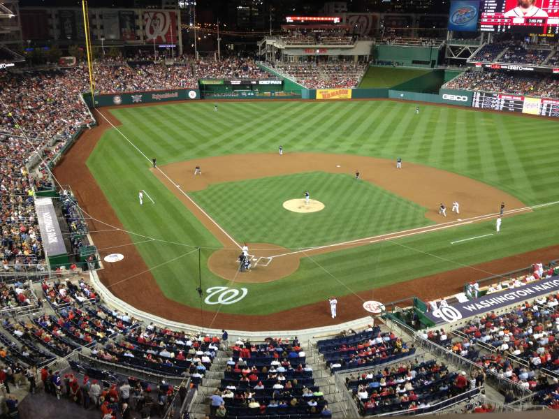 Seating view for Nationals Park Section 315 Row A Seat 4