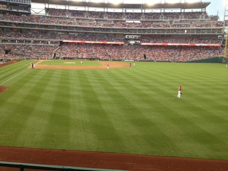 Seating view for Nationals Park Section 138 Row S Seat 4