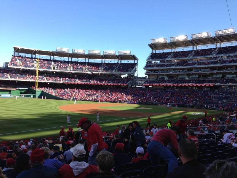 Seating view for Nationals Park Section 111 Row BB Seat 18