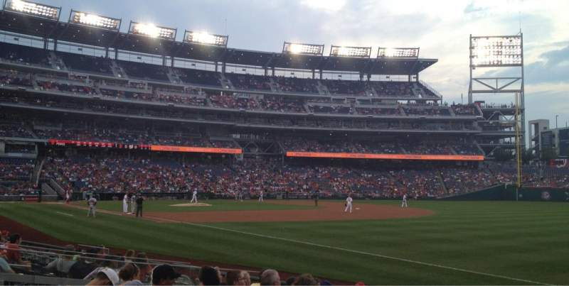 Seating view for Nationals Park Section 135 Row M Seat 2