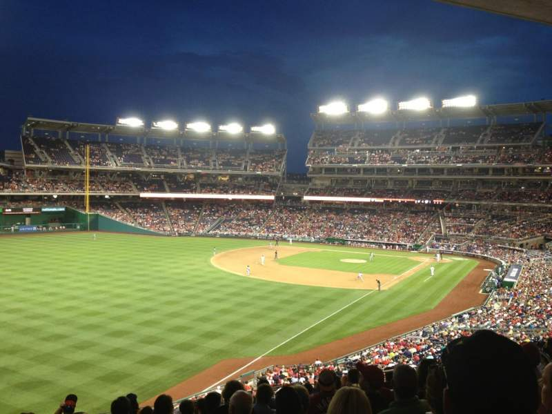Seating view for Nationals Park Section 201 Row J Seat 10