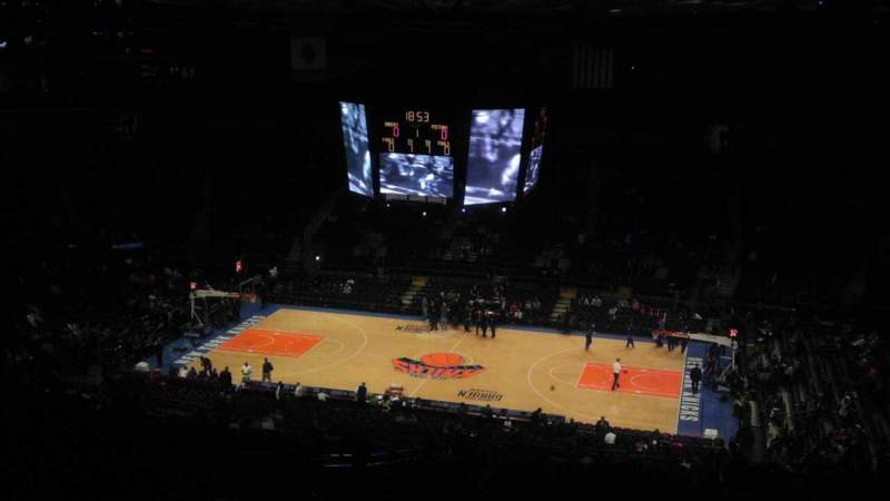 Seating view for Madison Square Garden Section 412 Row e Seat 1