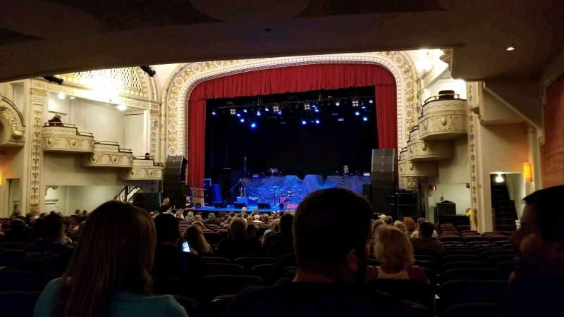 Seating view for Palace Theatre (Greensburg) Section ORCH R Row V Seat 8
