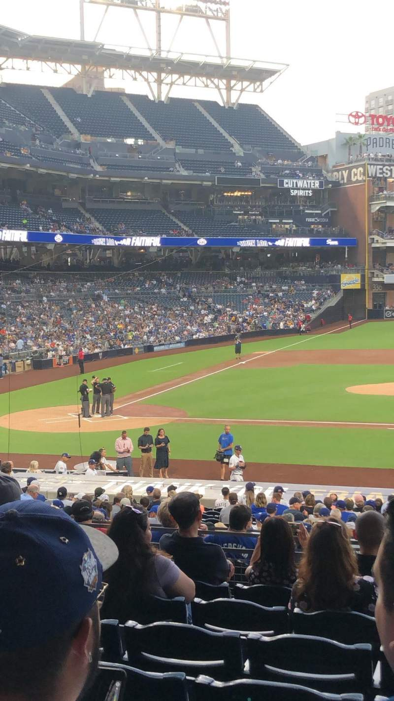 Seating view for PETCO Park Section 107 Row 33 Seat 12
