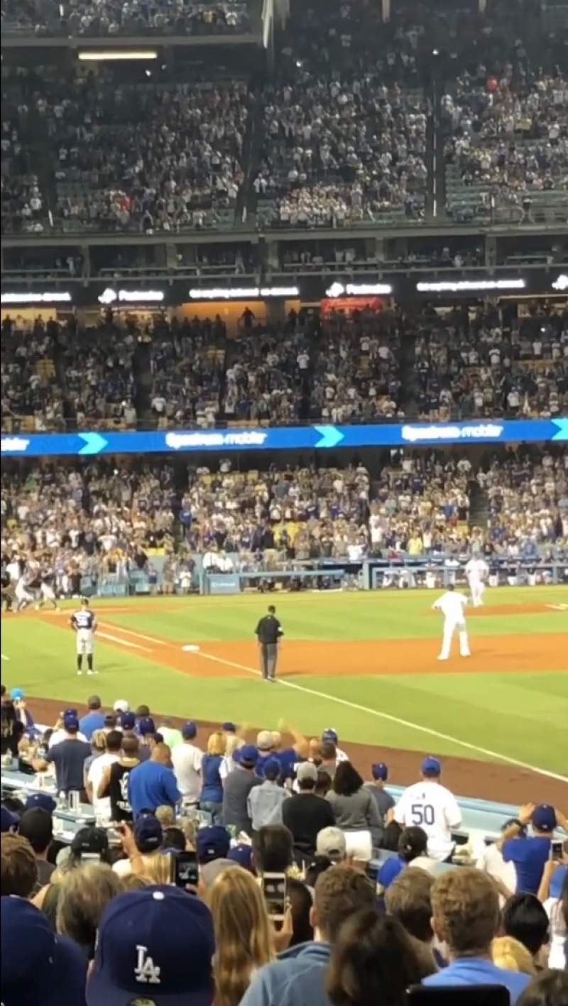 Seating view for Dodger Stadium Section 48FD Row N Seat 1
