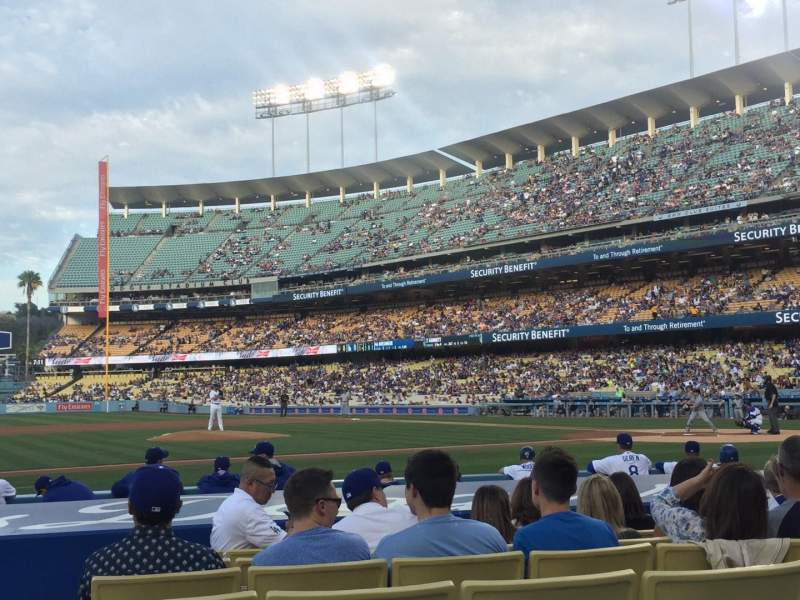 Seating view for Dodger Stadium Section 21FD Row B Seat 3