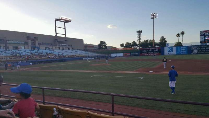 Seating view for Cashman Field Section 18 Row D Seat 8
