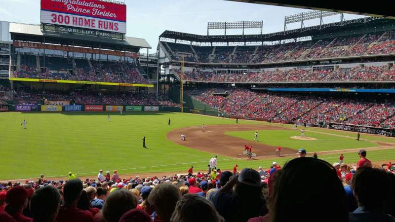 Seating view for Globe Life Park in Arlington Section 115 Row 34 Seat 16