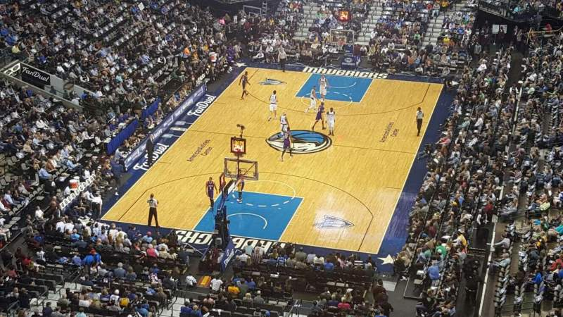 Seating view for American Airlines Center Section 317 Row L Seat 3