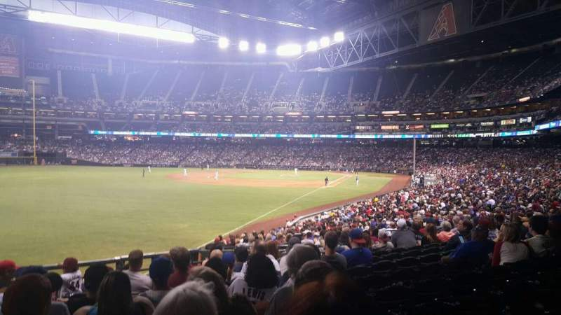 Seating view for Chase Field Section 136 Row 33 Seat 18