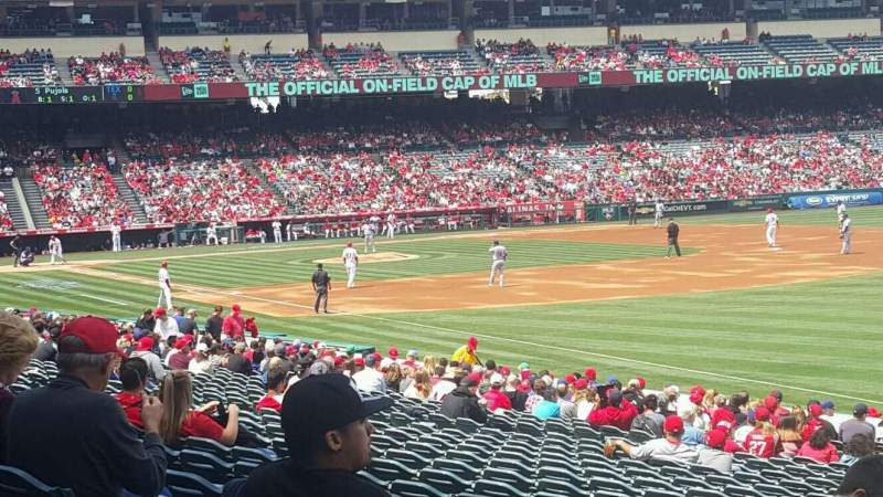 Seating view for Angel Stadium Section F131 Row Z Seat 18