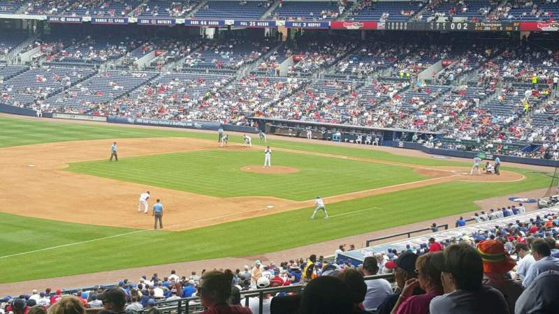 Seating view for Turner Field Section 224 Row 15 Seat 110